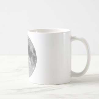 Full moon seen with telescope coffee mug