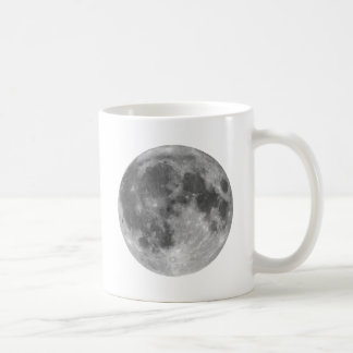 Full moon seen with telescope coffee mug