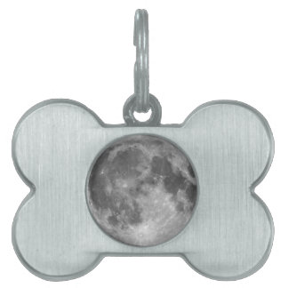 Full moon seen with telescope pet ID tag