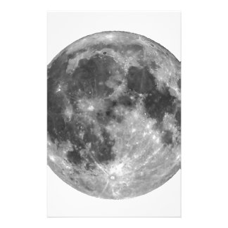 Full moon seen with telescope stationery