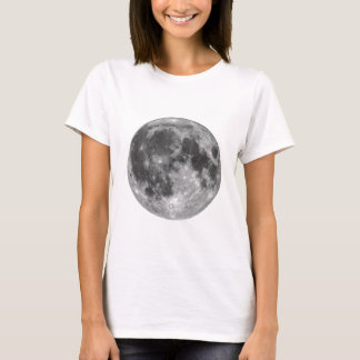 Full moon seen with telescope T-Shirt