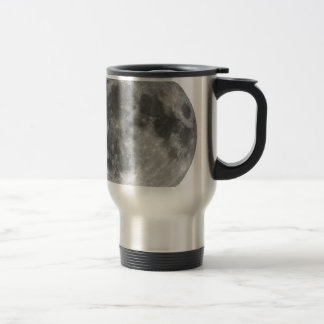 Full moon seen with telescope travel mug