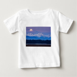 Full Moon setting over the Julian Alps Baby T-Shirt
