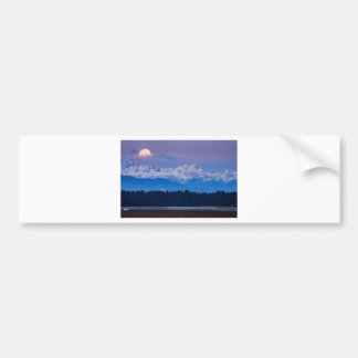 Full Moon setting over the Julian Alps Bumper Sticker
