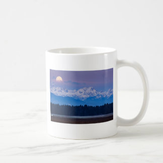Full Moon setting over the Julian Alps Coffee Mug
