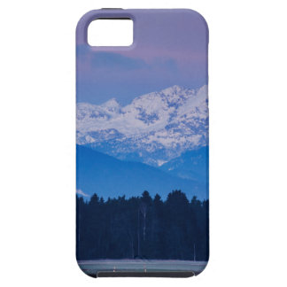 Full Moon setting over the Julian Alps iPhone 5 Case
