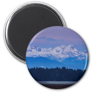 Full Moon setting over the Julian Alps Magnet