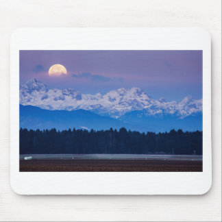 Full Moon setting over the Julian Alps Mouse Pad