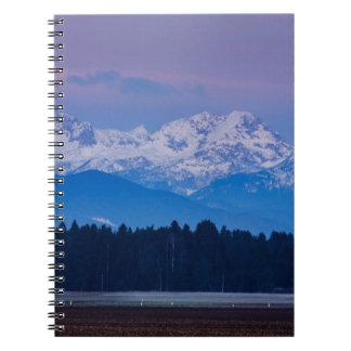 Full Moon setting over the Julian Alps Notebooks