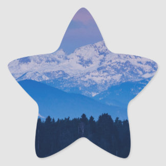 Full Moon setting over the Julian Alps Star Sticker