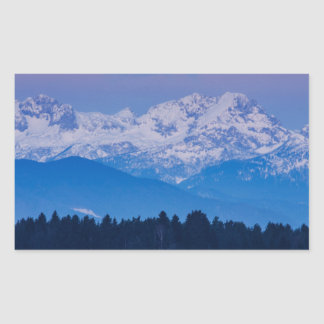 Full Moon setting over the Julian Alps Sticker