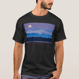Full Moon setting over the Julian Alps T-Shirt
