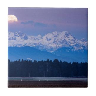 Full Moon setting over the Julian Alps Tile