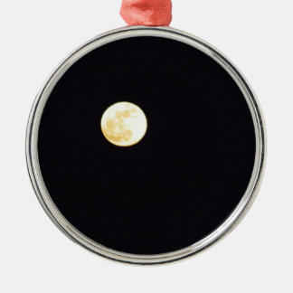 Full Moon Silver-Colored Round Ornament