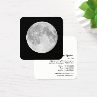 Full Moon Square Business Card