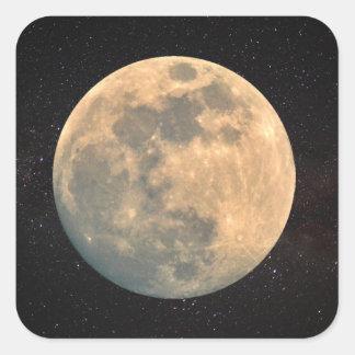 Full Moon Square Sticker