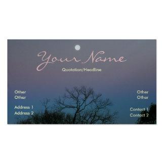 Full Moon Sunrise Business Card