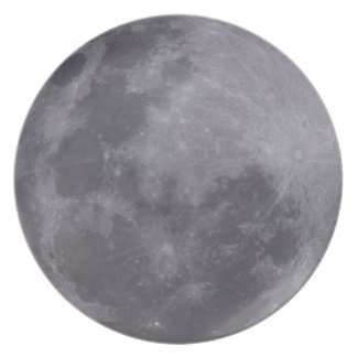 Full Moon Telescopic Photograph Plate