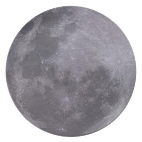 Full Moon Telescopic Photograph Plate