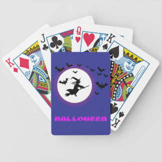 Full Moon Witch Bicycle Playing Cards