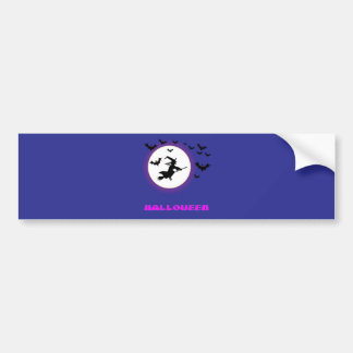Full Moon Witch Bumper Sticker