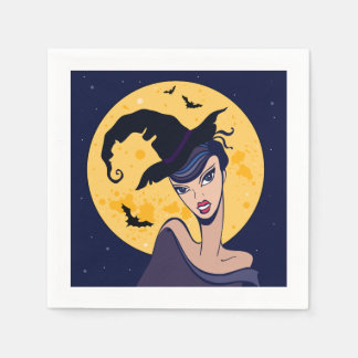 Full Moon Witch Paper Napkins