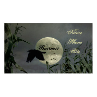 Full Moon With Crow Pack Of Standard Business Cards