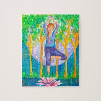Full Moon Woman Yoga Pose Puzzle