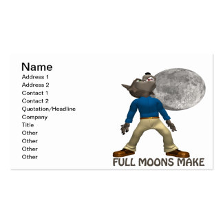 Full Moons Make Me Howl Double-Sided Standard Business Cards (Pack Of 100)