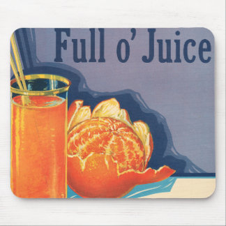 Full o Juice Vintage Orange Growers Advertisement Mouse Mats
