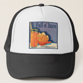 Full o' Juice Vintage Orange Growers Advertisement Trucker Hat