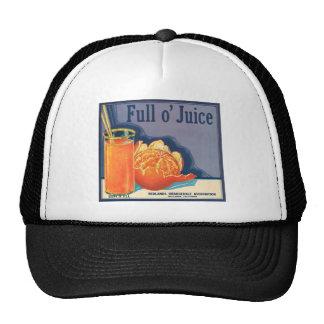 Full o' Juice Vintage Orange Growers Advertisement Trucker Hat