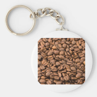 Full of  Beans Basic Round Button Keychain