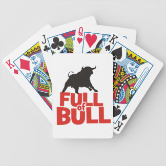 Full of Bull Bicycle Playing Cards