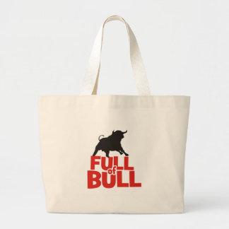 Full of Bull Large Tote Bag