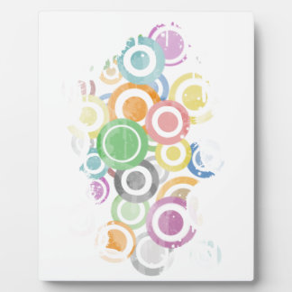 full of circles. Colorful and cool gift Plaque