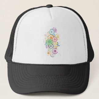 full of circles. Colorful and cool gift Trucker Hat
