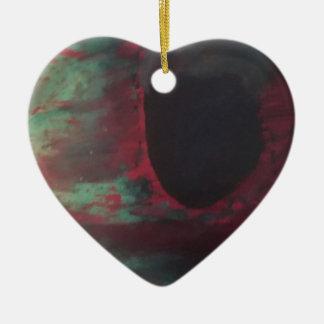 Full of color in a bright world ceramic ornament
