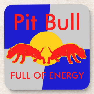 Full of Energy Pit Bull Coasters - Perfect Gift