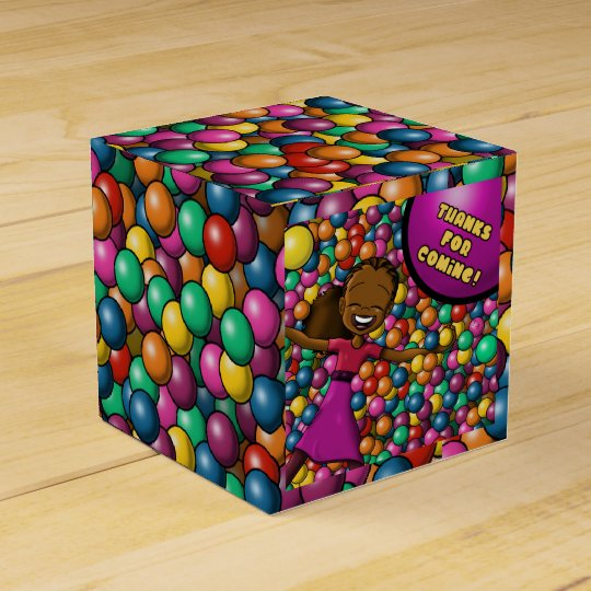 """Full of Fun Birthday Favour Box Classic 2x2"" Favor Box"
