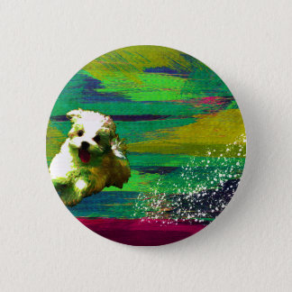 「Full of life」-VividーMaltese 2 Inch Round Button