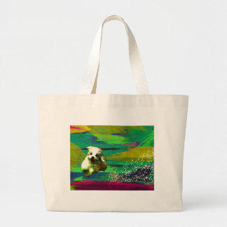 「Full of life」-VividーMaltese Large Tote Bag