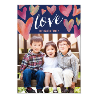 "Full of Love Valentine's Day Photo Cards 5"" X 7"" Invitation Card"