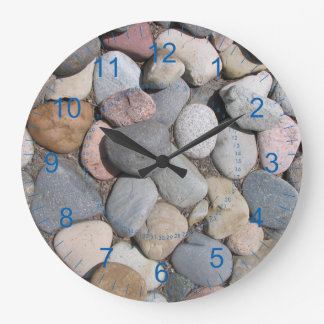 Full of Rocks Large Round Wall Clock