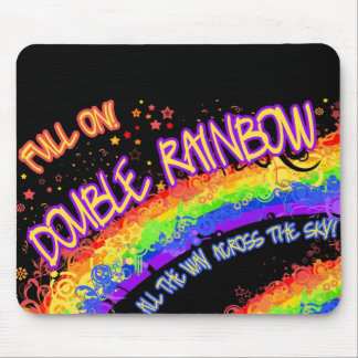 Full On Double Rainbow Mousepad w/ Free Wallpaper!