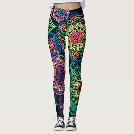 Full Page Neon Mandalas Leggings