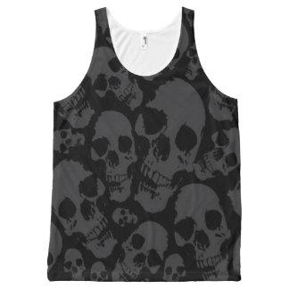 Full Print Dark Skulls Shirt
