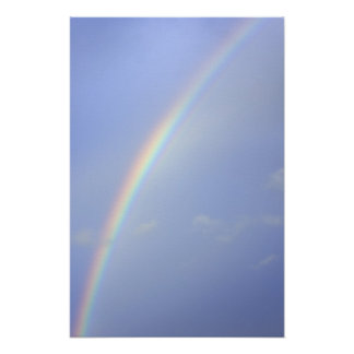 Full Rainbow in a Blue Sky Poster