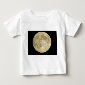 Full round moon on black background baby T-Shirt