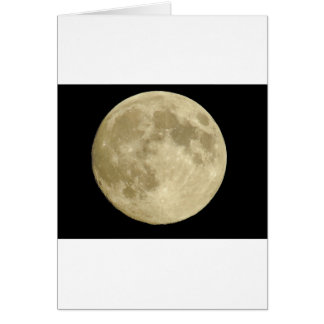 Full round moon on black background card